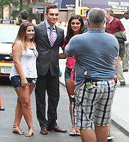 August 17, 2012 Ed Westwick with fans  shooting on location for Gossip Girl in New York City. &copy; RW/MediaPunch Inc. /NortePhoto.com<br />