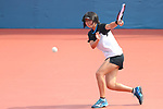 Noa Takahashi (JPN), <br /> AUGUST 27, 2018 - Soft Tennis : <br /> Training session<br /> at Jakabaring Sport Center Tennis Courts <br /> during the 2018 Jakarta Palembang Asian Games <br /> in Palembang, Indonesia. <br /> (Photo by Yohei Osada/AFLO SPORT)