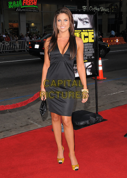 "NADIA BJORLIN .Attends The World Premiere of ""Vice"" held at The Chinese Theatre in Hollywood, California, USA,.May 07 2008.    .full length black dress yellow peep toe shoes                                         .CAP/DVS.©Debbie VanStory/Capital Pictures"