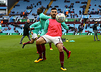Robert Snodgrass of Aston Villa warming up before the match against Wolverhampton Wanderers.<br /> <br /> Photographer Leila Coker/CameraSport<br /> <br /> The EFL Sky Bet Championship - Aston Villa v Wolverhampton Wanderers - Saturday 10th March 2018 - Villa Park - Birmingham<br /> <br /> World Copyright &copy; 2018 CameraSport. All rights reserved. 43 Linden Ave. Countesthorpe. Leicester. England. LE8 5PG - Tel: +44 (0) 116 277 4147 - admin@camerasport.com - www.camerasport.com