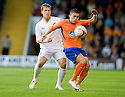 05/08/2010   Copyright  Pic : James Stewart.sct_jsp023_Motherwell_v_Aalesund  .::  STEVIE HAMMELL IS HELD OFF THE BALL BY PABLO HERRERA ::  .James Stewart Photography 19 Carronlea Drive, Falkirk. FK2 8DN      Vat Reg No. 607 6932 25.Telephone      : +44 (0)1324 570291 .Mobile              : +44 (0)7721 416997.E-mail  :  jim@jspa.co.uk.If you require further information then contact Jim Stewart on any of the numbers above.........