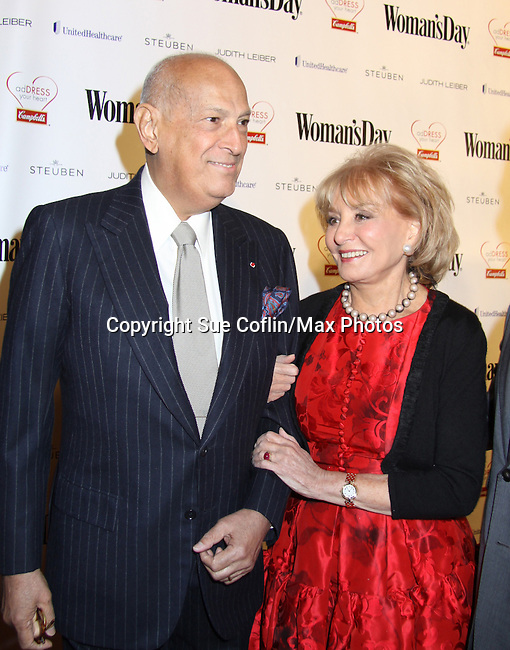 "Fashion designer Oscar de la Renta presents & Barbara Walters is honored at the Eighth Annual ""Red Dress Awards"" benefitting The American Heart Association on February 8, 2011 in the Allen Room at Frederick P. Rose Hall, Jazz at Lincoln Center, New York City, New York. (Photo by Sue Coflin/Max Photos)"