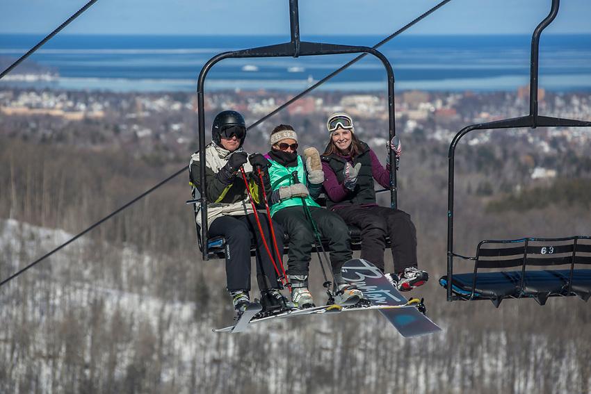 Marquette Mountain ski area Marquette, Michigan.