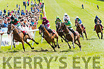 The 3rd pony race underway at the Dingle Races on Saturday.