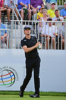 Thomas Pieters (BEL) on the 10th tee during the first round of the WGC Bridgestone Invitational, Firestone country club, Akron, Ohio, USA. 03/08/2017.<br /> Picture Ken Murray / Golffile.ie<br /> <br /> All photo usage must carry mandatory copyright credit (&copy; Golffile | Ken Murray)