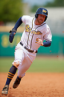 Montgomery Biscuits Dalton Kelly (9) running the bases during a Southern League game against the Mobile BayBears on May 2, 2019 at Riverwalk Stadium in Montgomery, Alabama.  Mobile defeated Montgomery 3-1.  (Mike Janes/Four Seam Images)