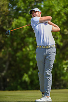 Wesley Bryan (USA) watches his tee shot on 9 during Round 1 of the Valero Texas Open, AT&amp;T Oaks Course, TPC San Antonio, San Antonio, Texas, USA. 4/19/2018.<br /> Picture: Golffile | Ken Murray<br /> <br /> <br /> All photo usage must carry mandatory copyright credit (&copy; Golffile | Ken Murray)