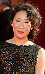 LOS ANGELES, CA. - September 21: Actress Sandra Oh arrives at the 60th Primetime Emmy Awards at the Nokia Theater on September 21, 2008 in Los Angeles, California.