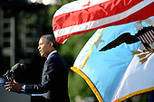 United States President Barack Obama speaks at a memorial for the victims of the Washington Navy Yard shooting at the Marine Barracks, September 22, 2013 in Washington, D.C.  The President and first lady also visited with families of the victims. <br /> Credit: Olivier Douliery / Pool via CNP