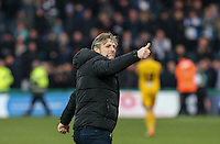 Wycombe Wanderers Manager Gareth Ainsworth gives a thumb up during the Sky Bet League 2 match between Wycombe Wanderers and Bristol Rovers at Adams Park, High Wycombe, England on 27 February 2016. Photo by Andy Rowland.