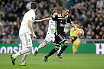 Real Madrid's Nacho Fernandez (L), Luka Modric and AFC Ajax's Hakim Ziyech during a UEFA Champions League match. Round of 16. Second leg. March, 5,2019. (ALTERPHOTOS/Alconada)