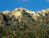 Italy, Sicily, Motta Camastra: mountain village near Francavilla
