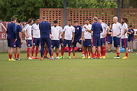 San Antonio, TX - Sunday, April 12, 2015: The USMNT Arrivals and Training at Trinity University.