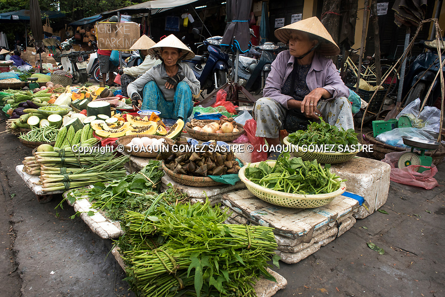 In the market of Hoian (Vietnam) we can find all type of vegetables, meats and fish.<br /> HOIAN-VIETNAM