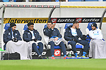 Die Ersatzbank v.l. Hoffenheims Ishak Belfodil (Nr.19), Hoffenheims Reiss Nelson (Nr.9), Hoffenheims Adam Szalai (Nr.28), Hoffenheims Ermin Bicakcic (Nr.4) und Hoffenheims Leonardo Bittencourt (Nr.13)  beim Spiel in der Fussball Bundesliga, TSG 1899 Hoffenheim - Fortuna Duesseldorf.<br /> <br /> Foto © PIX-Sportfotos *** Foto ist honorarpflichtig! *** Auf Anfrage in hoeherer Qualitaet/Aufloesung. Belegexemplar erbeten. Veroeffentlichung ausschliesslich fuer journalistisch-publizistische Zwecke. For editorial use only. DFL regulations prohibit any use of photographs as image sequences and/or quasi-video.