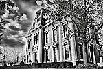 Brossler Mansion Dayton Ohio in Black & white
