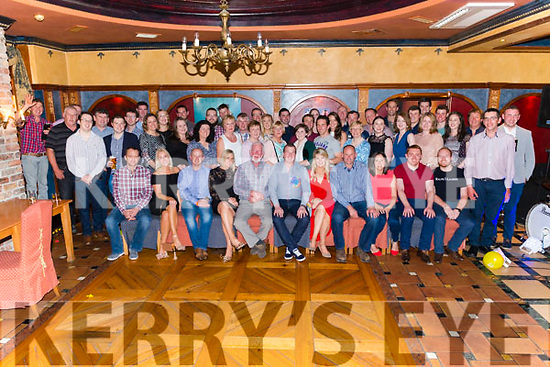 Mark Blennerhassett from Beaufort celebrated his 30th birthday surrounded by friends and family in the Avenue Hotel, Killarney last Saturday night.