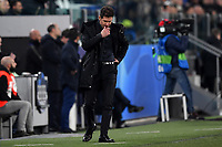 Diego Simeone coach of Atletico Madrid look dejected during the Uefa Champions League 2018/2019 round of 16 second leg football match between Juventus and Atletico Madrid at Juventus stadium, Turin, March, 12, 2019 <br />  Foto Andrea Staccioli / Insidefoto