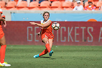 Houston, TX - Saturday May 13, Houston Dash defender Camille Levin (22) during a regular season National Women's Soccer League (NWSL) match between the Houston Dash and Sky Blue FC at BBVA Compass Stadium. Sky Blue won the game 3-1.