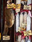 Salami for sale, San Gimignano, Siena-Tuscano, Italy