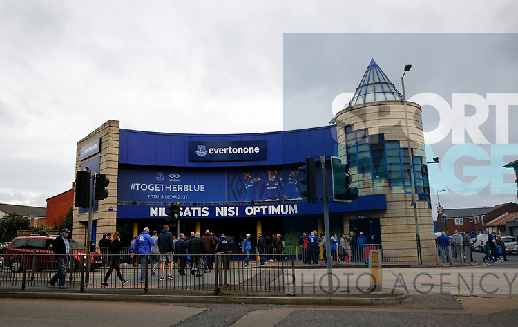 A general view outside of Goodison Park before the pre season friendly match at Goodison Park Stadium, Liverpool. Picture date 6th August 2017. Picture credit should read: Paul Thomas/Sportimage