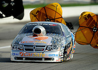 Aug. 31, 2012; Claremont, IN, USA: NHRA pro stock driver Richie Stevens during qualifying for the US Nationals at Lucas Oil Raceway. Mandatory Credit: Mark J. Rebilas-