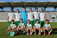 Republic of Ireland U21 Team photo. Back row (left to right) Adam Idah, Conor Coventry, Caolmhin Kelleher, Conor Masterson, Dara O'Shea, Zach Elbouzedi. Front row (left to right) Jayson Molumby, Darragh Leahy, Connor Ronan, Simon Power and Lee O'Connor during Republic Of Ireland Under-21 vs Mexico Under-21, Tournoi Maurice Revello Football at Stade Parsemain on 6th June 2019