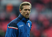 9th December 2017, Wembley Stadium, London England; EPL Premier League football, Tottenham Hotspur versus Stoke City; Peter Crouch of Stoke City looks on during pre match warm up