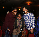 Jennie Harney and cast members of 'The Color Purple' host a meet and greet with kids from PAL at The Jacobs Theatre on December 7, 2016 in New York City.