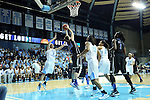 03 February 2013: Duke's Haley Peters (33) grabs a rebound in traffic. The University of North Carolina Tar Heels played the Duke University Blue Devils at Carmichael Arena in Chapel Hill, North Carolina in an NCAA Division I Women's Basketball game. Duke won the game 84-63.