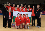 Wales Netball team with coaching staff <br /> <br /> Swansea University International Netball Test Series: Wales v New Zealand<br /> Ice Arena Wales<br /> 08.02.17<br /> &copy;Ian Cook - Sportingwales