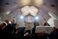 Members of the audience sing along with a song during the State Funeral for former President George H.W. Bush at the National Cathedral, Wednesday, Dec. 5, 2018,  in Washington. <br /> Credit: Andrew Harnik / Pool via CNP / MediaPunch