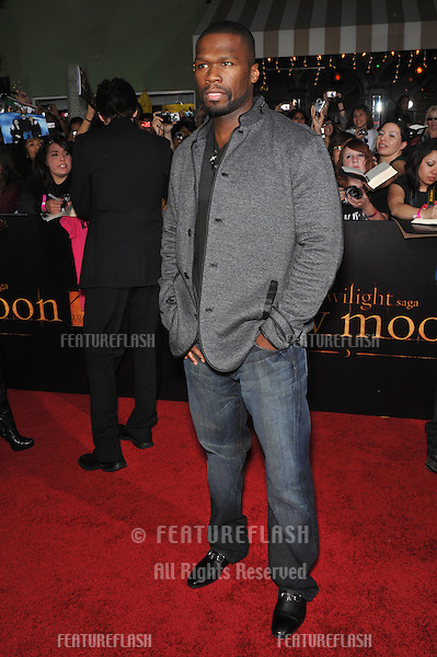 "Curtis '50 Cent' Jackson at the world premiere of ""The Twilight Saga: New Moon"" at Mann Village & Bruin Theatres, Westwood..November 16, 2009  Los Angeles, CA.Picture: Paul Smith / Featureflash"