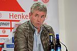 18.01.2020, Merkur Spielarena, Duesseldorf , GER, 1. FBL,  Fortuna Duesseldorf vs. SV Werder Bremen,<br />  <br /> DFL regulations prohibit any use of photographs as image sequences and/or quasi-video<br /> <br /> im Bild / picture shows: <br /> Pressekonferenz (PK) nach dem Spiel,  Friedhelm Funkel Trainer / Headcoach (Fortuna Duesseldorf), <br /> <br /> Foto © nordphoto / Meuter