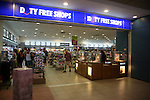 Airport duty free shops, Rhodes, Greece