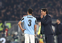 Football, Serie A: S.S. Lazio - Napoli, Olympic stadium, Rome, January 11, 2020.<br /> Lazio's coach Simone Inzaghi (r) speaks to his player Luiz Felipe Ramos (l) during the Italian Serie A football match between S.S. Lazio and Napoli at Rome's Olympic stadium, Rome , on January 11, 2020.<br /> UPDATE IMAGES PRESS/Isabella Bonotto