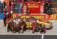 Apr 28, 2007; Talladega, AL, USA; Nascar Busch Series driver Bobby Hamilton Jr (35) pits during the Aarons 312 at Talladega Superspeedway. Mandatory Credit: Mark J. Rebilas