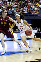 BERKELEY, CA - MARCH 30: Ros Gold-Onwude drives down the lane during Stanford's 74-53 win against the Iowa State Cyclones on March 30, 2009 at Haas Pavilion in Berkeley, California.