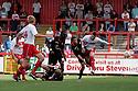 Marcus Haber of Stevenage heads wide. Stevenage v Crewe Alexandra - npower League 1 -  Lamex Stadium, Stevenage - 15th September, 2012. © Kevin Coleman 2012.