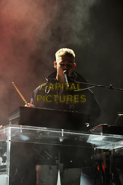 LONDON, ENGLAND - OCTOBER 19: Mura Masa (Alex Crossan) performing at Brixton Academy on October 19, 2017 in London, England.<br /> CAP/MAR<br /> &copy;MAR/Capital Pictures