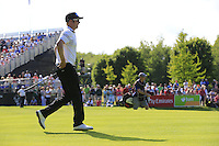 Mikko Ilonen (FIN) walks onto the 18th green during Friday's Round 2 of the 2014 Irish Open held at Fota Island Resort, Cork, Ireland. 20th June 2014.<br /> Picture: Eoin Clarke www.golffile.ie