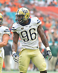 MIAMI GARDENS, FL, NOV 5: The Pitt football team travels to take on Miami at Hard Rock Stadium in Miami Gardens, Florida on November 5, 2016.<br /> Photographer: Pete Madia/Pitt Athletics