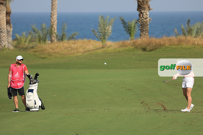 Charley Hull (ENG) during the first round of the Fatima Bint Mubarak Ladies Open played at Saadiyat Beach Golf Club, Abu Dhabi, UAE. 10/01/2019<br /> Picture: Golffile | Phil Inglis<br /> <br /> All photo usage must carry mandatory copyright credit (&copy; Golffile | Phil Inglis)