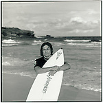 JULY 1995    -  SYDNEY , Australia   -   A surfer on Bondi Beach.