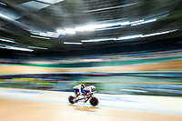 Picture by Alex Whitehead/SWpix.com - 23/03/2018 - Cycling - 2018 UCI Para-Cycling Track World Championships - Rio de Janeiro Municipal Velodrome, Barra da Tijuca, Brazil - Steve Bate piloted by Adam Duggleby of Great Britain compete in the Men's B 4km Pursuit qualifying.