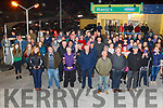 The large crowd who turned out to greet Ploughing champions Daniel Burke and Derek O'Driscoll as they arrive home in Causeway on Friday