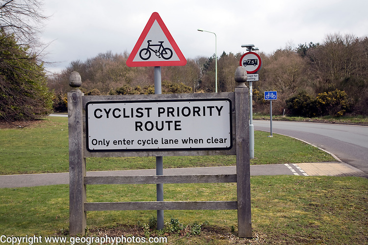 Cycle Priority Route scheme Martlesham Suffolk
