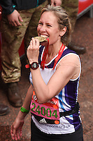 Sophie Raworth<br /> finishes the 2016 London Marathon, The Mall, London<br /> <br /> <br /> ©Ash Knotek  D3108 24/04/2016