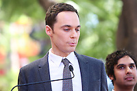HOLLYWOOD, LOS ANGELES, CA, USA - OCTOBER 29: Jim Parsons at the ceremony honoring Kaley Cuoco with a star in the Hollywood Walk Of Fame on October 29, 2014 in Hollywood, Los Angeles, California, United States. (Photo by Xavier Collin/Celebrity Monitor)