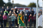 Goalie Rebecca Keating of Inagh-Kilnamona makes a save against Newmarket during their senior county final in Clarecastle. Photograph by John Kelly.